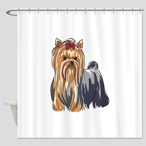 YORKSHIRE TERRIERS Shower Curtain