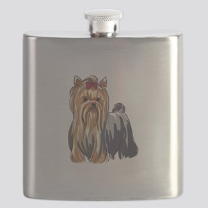 YORKSHIRE TERRIERS Flask