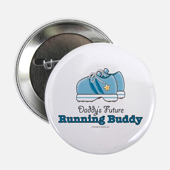Daddy's Running Buddy Shoes Runners Gift Button