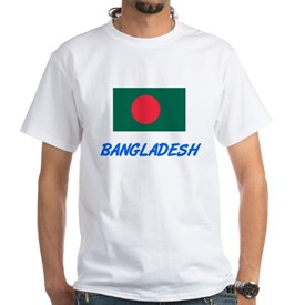 Bangladesh Flag Artistic Blue Design T-Shirt