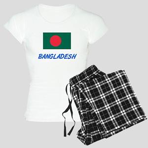 Bangladesh Flag Artistic Blue Design Pajamas