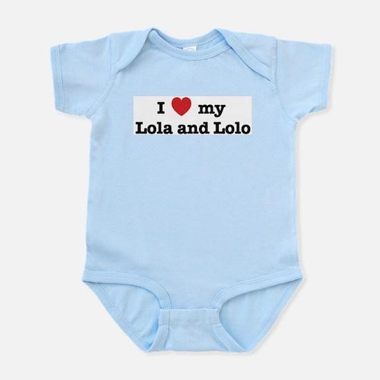 I Love my Lola and Lolo Infant Creeper