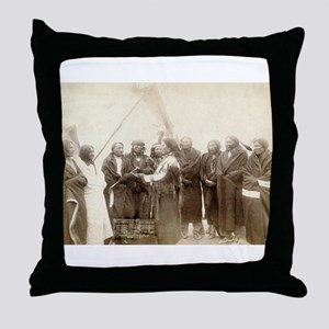 Lakota Chiefs - John Grabill - 1880 Throw Pillow