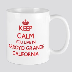 Keep calm you live in Arroyo Grande Californi Mugs