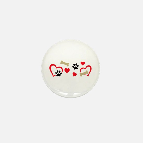 DOG THEME HORIZONTAL Mini Button