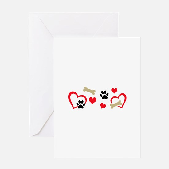 DOG THEME HORIZONTAL Greeting Cards