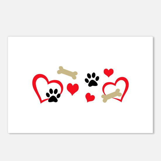 DOG THEME HORIZONTAL Postcards (Package of 8)