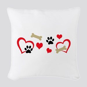 DOG THEME HORIZONTAL Woven Throw Pillow