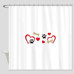 DOG THEME HORIZONTAL Shower Curtain
