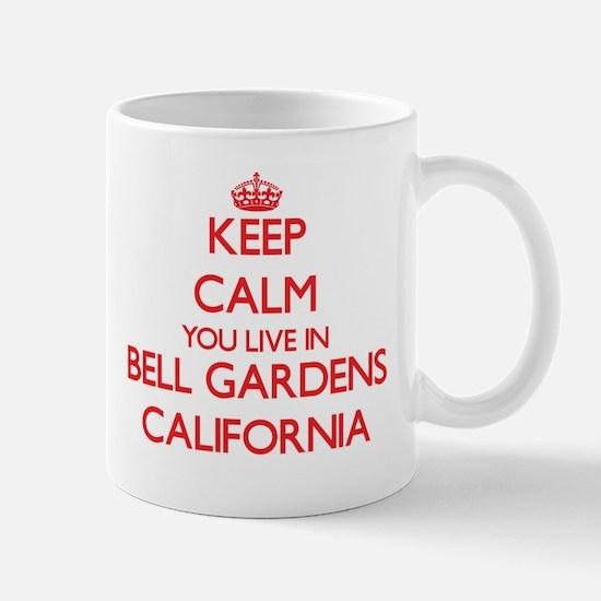 Keep calm you live in Bell Gardens California Mugs