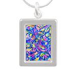 Abstact (AL)-1 Silver Portrait Necklace