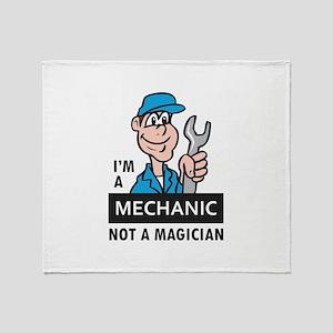 MECHANIC NOT A MAGICIAN Throw Blanket