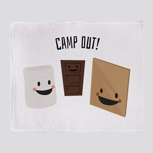 Camp Out! Throw Blanket