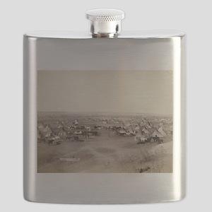 Hostile Indian camp- John Grabill - 1891 Flask