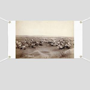 Hostile Indian camp- John Grabill - 1891 Banner