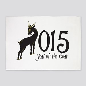Year of the Goat 2015 5'x7'Area Rug
