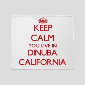 Keep calm you live in Dinuba Califor Throw Blanket