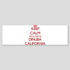 Keep calm you live in Dinuba Califo Bumper Sticker