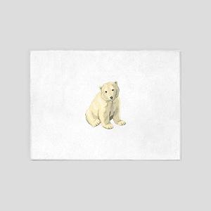 Baby Polar Bear 5'x7'Area Rug