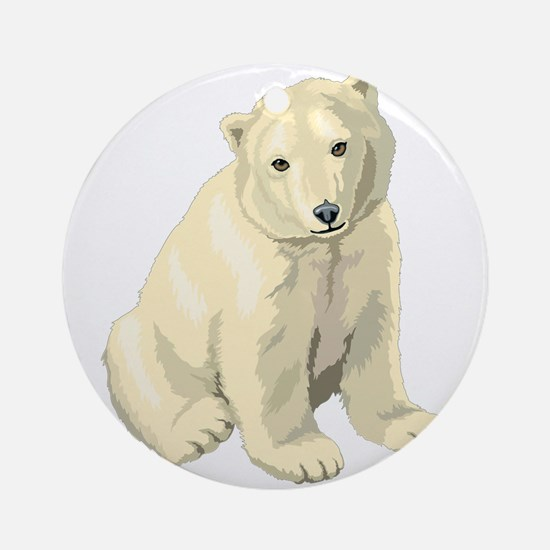 Baby Polar Bear Ornament (Round)
