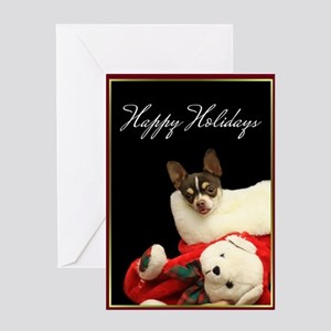 Happy Holidays Chihuahua Dog Greeting Cards