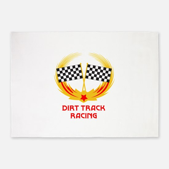 DIRT TRACK RACING 5'x7'Area Rug