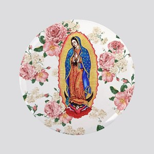 "Virgin of Guadalupe 3.5"" Button"