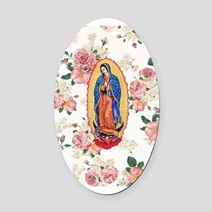 Virgin of Guadalupe Oval Car Magnet