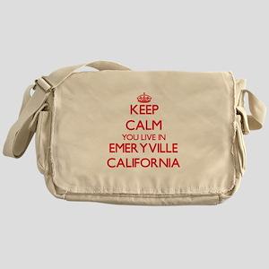 Keep calm you live in Emeryville Cal Messenger Bag