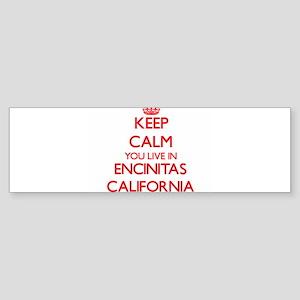 Keep calm you live in Encinitas Cal Bumper Sticker