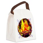 Dauntless Flaming Pixels Canvas Lunch Bag