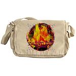 Dauntless Flaming Pixels Messenger Bag