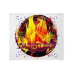 Dauntless Flaming Pixels Throw Blanket