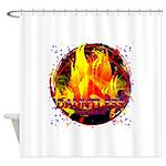 Dauntless Flaming Pixels Shower Curtain