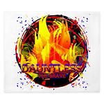 Dauntless Flaming Pixels King Duvet