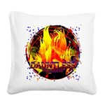 Dauntless Flaming Pixels Square Canvas Pillow