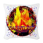 Dauntless Flaming Pixels Woven Throw Pillow