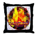 Dauntless Flaming Pixels Throw Pillow