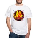 Dauntless Flaming Pixels White T-Shirt