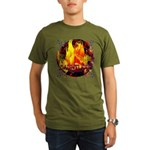Dauntless Flaming Pix Organic Men's T-Shirt (dark)