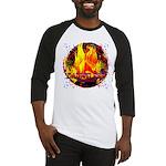 Dauntless Flaming Pixels Baseball Jersey