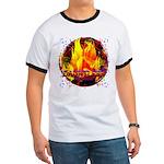 Dauntless Flaming Pixels Ringer T
