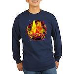 Dauntless Flaming Pixels Dark Long Sleeve T-Shirt