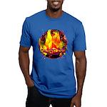 Dauntless Flaming Pixe Men's Fitted T-Shirt (dark)