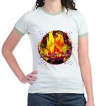 Dauntless Flaming Pixels Jr. Ringer T-Shirt