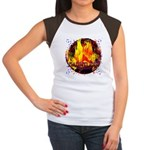 Dauntless Flaming Pixel Women's Cap Sleeve T-Shirt