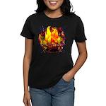 Dauntless Flaming Pixels Women's Dark T-Shirt