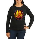 Dauntless Flaming Women's Long Sleeve Dark T-Shirt