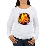 Dauntless Flaming Pixe Women's Long Sleeve T-Shirt