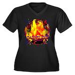 Dauntless Fl Women's Plus Size V-Neck Dark T-Shirt